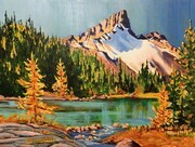 Cathedral Over Cascade Lakes; 16 X 12 inches, acrylic on gallery canvas