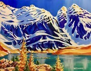 Glacier Peak and Lake Oesa; 28 X 22 inches, acrylic on canvas