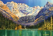 Lake O'Hara, Yoho National Park, 36 X 24 inches, acrylic on canvas