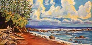 On the Juan de Fuca Marine Trail; 30 X 15 inches; acrylic on canvas