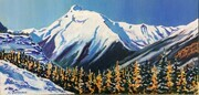 Yoho's September Gold, 30 X 15 inches, acrylic on canvas